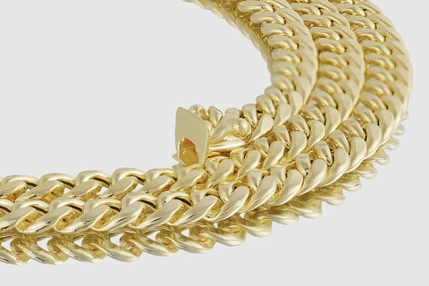 6mm 14K Miami Cuban Link Semi-Solid Yellow Gold Necklace