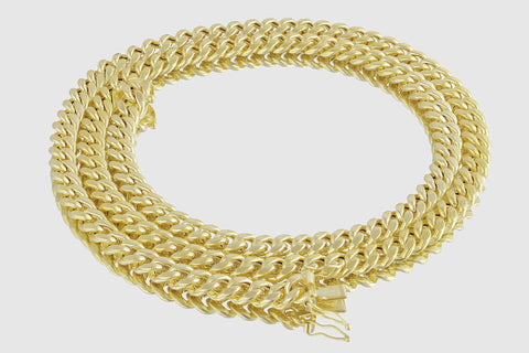 7mm Miami Cuban Chain 14K Yellow Gold