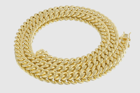 10mm Miami Cuban Chain 14K Yellow Gold