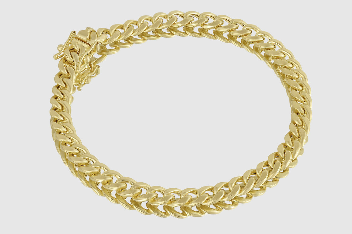 6mm Miami Cuban Bracelet 14K Yellow Gold