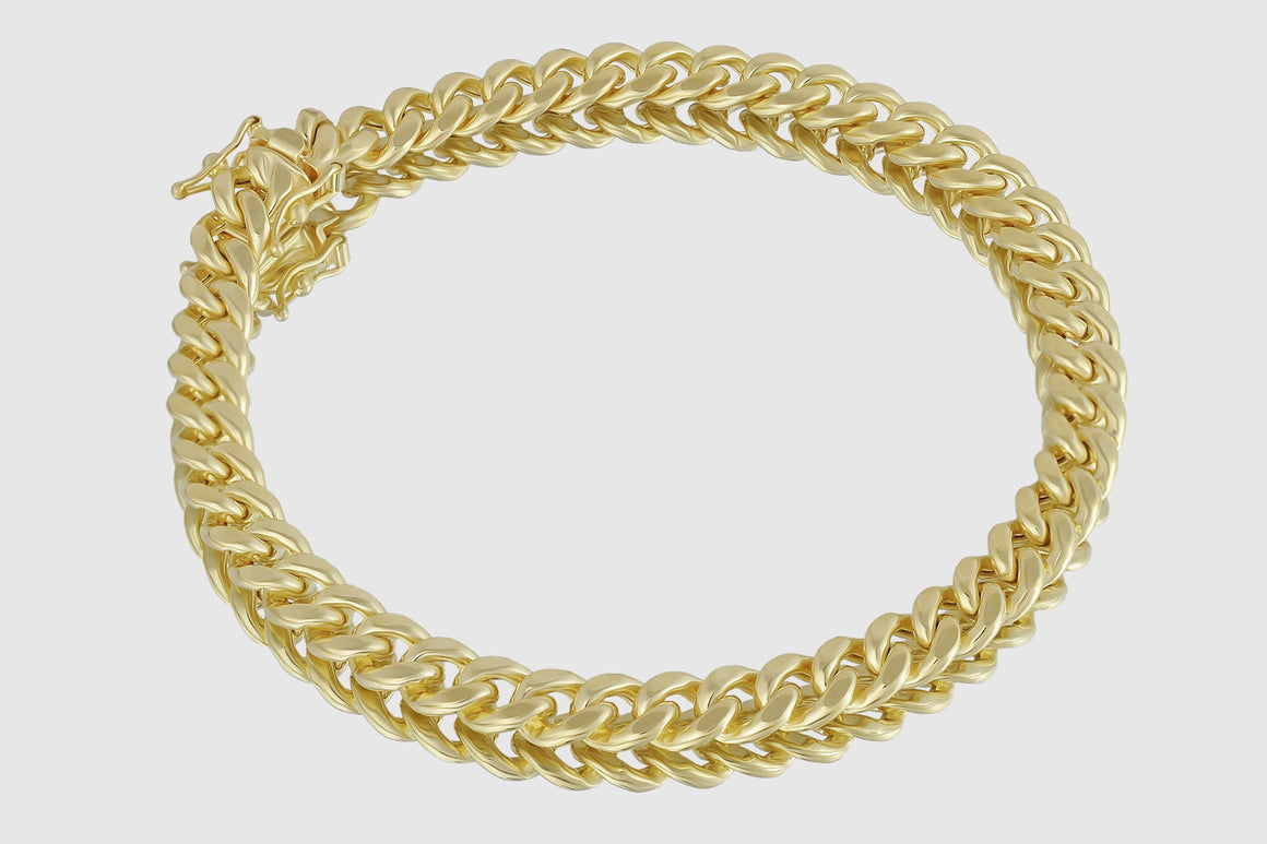 7mm Miami Cuban Bracelet 14K Yellow Gold