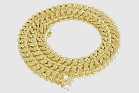 12mm Miami Cuban Chain 14K Yellow Gold