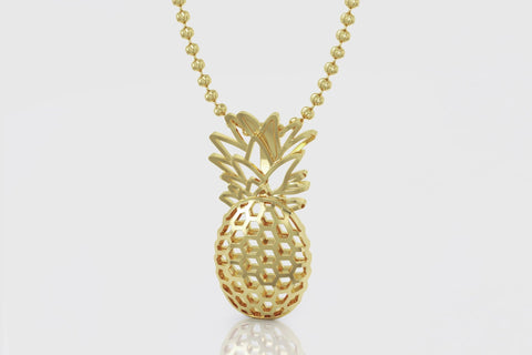 Pineapple Pendant 14K Yellow Gold