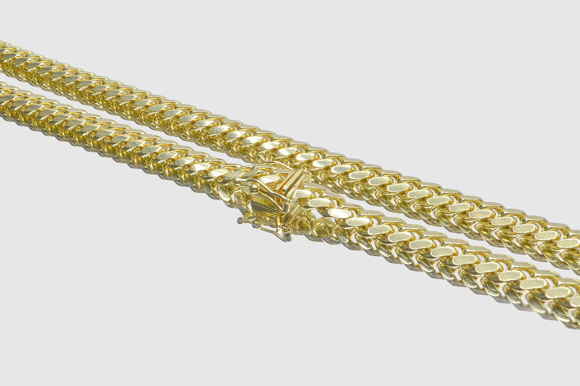 6mm Miami Cuban 18k Solid Gold Necklace