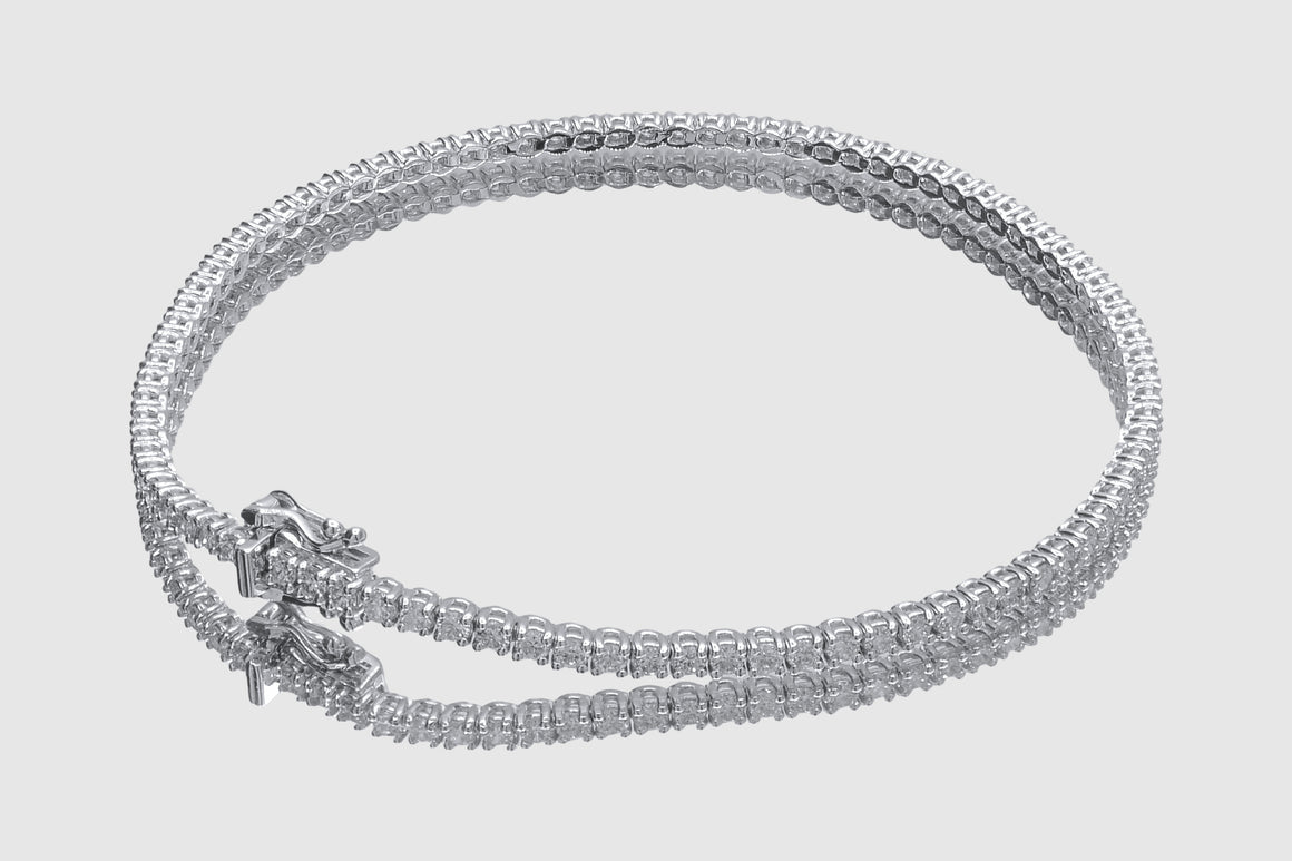1.7mm 2 pointers Diamond Tennis Bracelet