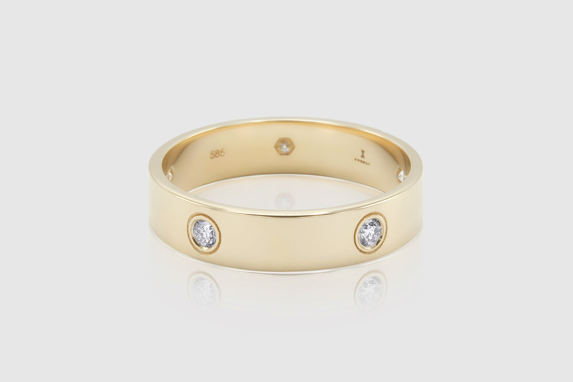 Love Style Diamond Band Ring