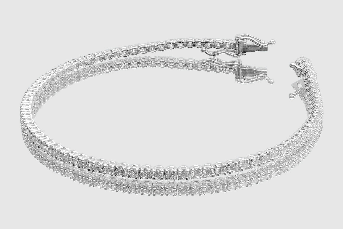 2mm 3 pointers Diamond Tennis Bracelet