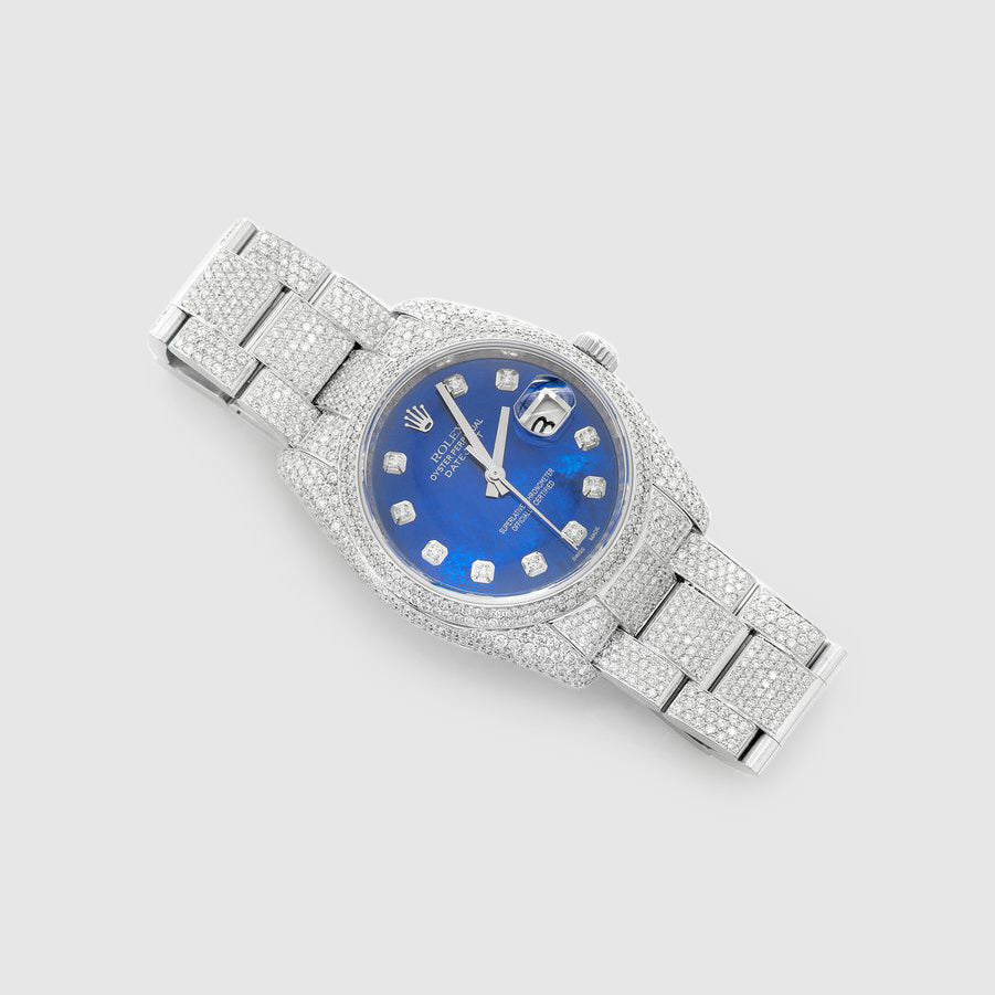 Rolex DateJust 36mm Diamond Stainless Steel Blue Dial