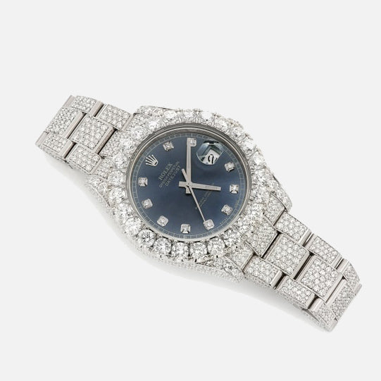 Rolex DateJust II 41mm Diamond Stainless Steel Blue