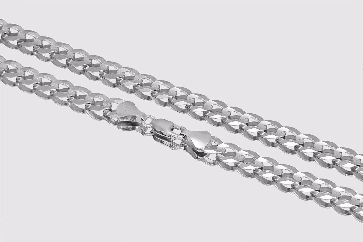 Cuban Curb Chain 14K White Gold