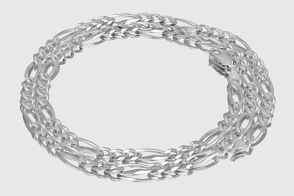 Figaro Chain 14K White Gold