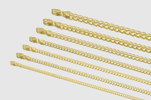 14k Cuban Curb Solid Yellow Gold Necklace