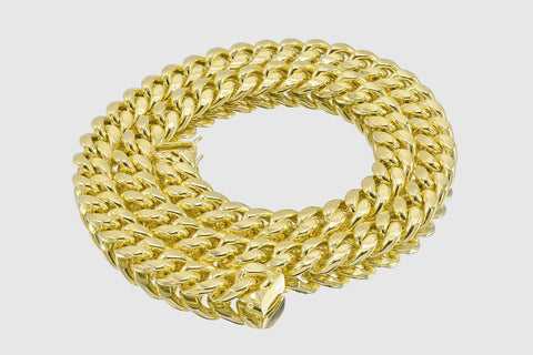 15mm Miami Cuban Chain 14K Yellow Gold
