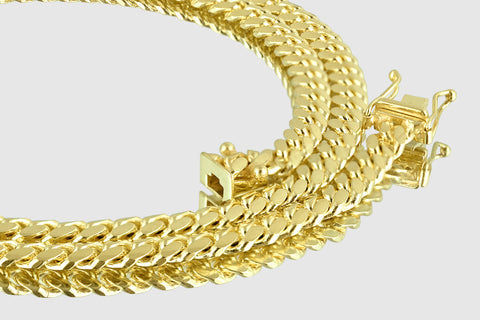 5mm Miami Cuban Solid Gold Necklace