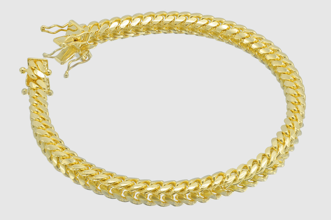 5mm Miami Cuban Bracelet 14K Solid Yellow Gold