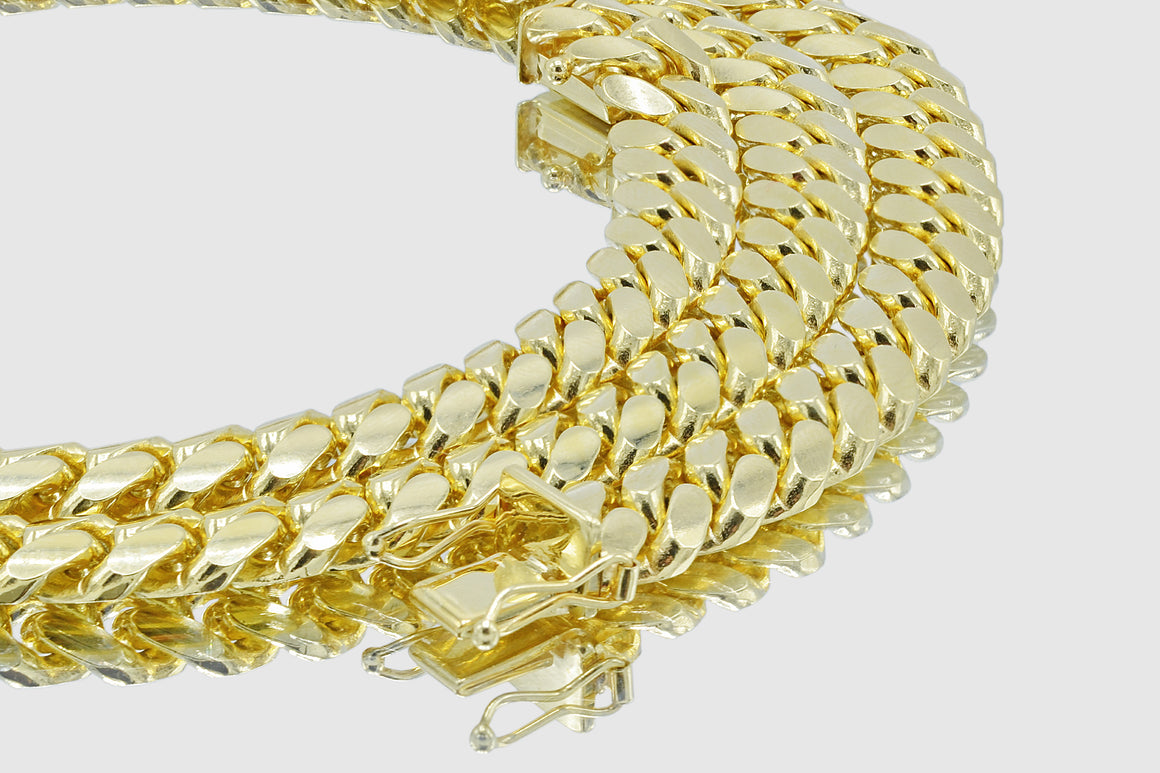 8mm Miami Cuban 10k Solid Gold Necklace