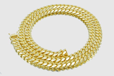8mm Miami Cuban Solid Gold Necklace