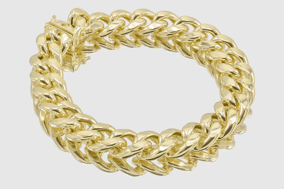 13mm 14K Miami Cuban Gold Bracelet
