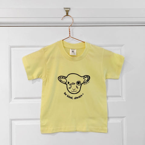 BE KIND WILLOW Yellow Kids Tee