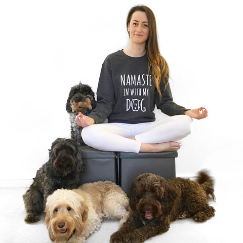 NAMASTE IN WITH MY DOG Unisex Sweater