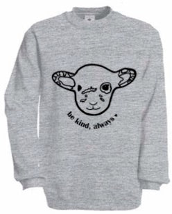 BE KIND GREY WILLOW Fair Wear Sweater