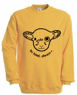 BE KIND YELLOW WILLOW Fair Wear Sweater