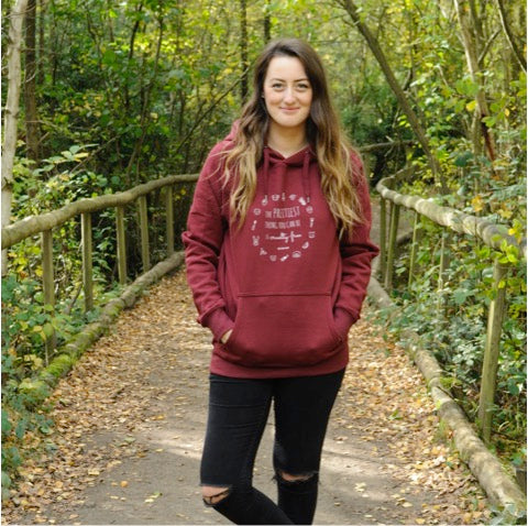 THE PRETTIEST THING YOU CAN BE IS CRUELTY-FREE Fair Wear Burgundy Hoodie