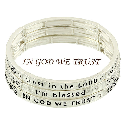 "*[B/L]-""In God We Trust"" Stackable Bracelets - jewelz by julz...""The Collection!"""