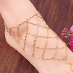 "[ANK]-Goldtone Fishnet Pattern Anklet - jewelz by julz...""The Collection!"""