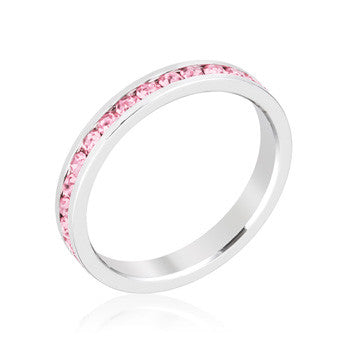 "*[R]-Stylish Stackables Pink Crystal Ring- SZ6 - jewelz by julz...""The Collection!"""