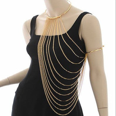 "*[B/J]-Goldtone Neck & Arm Link Body Jewelry - jewelz by julz...""The Collection!"""
