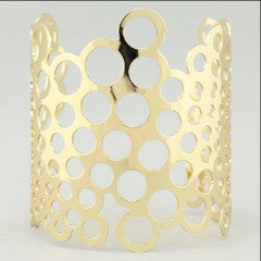 "[B/L]-Goldtone Bubble Metal Cuff Bracelet - jewelz by julz...""The Collection!"""