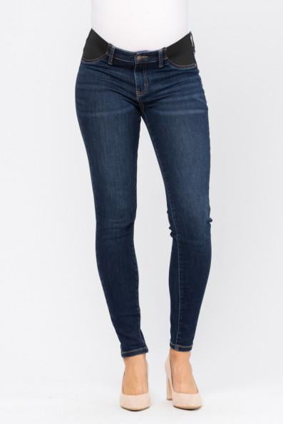 Maternity Dark Denim Jeans - PLUS size - Essential Southern Charm