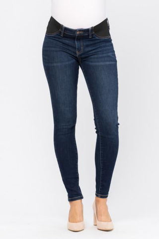 Maternity Dark Denim Jeans - PLUS size
