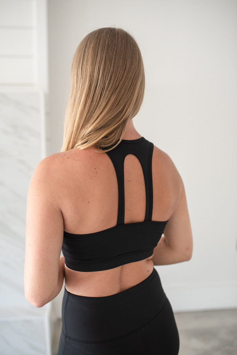 Basic Black Sports Bra - Essential Southern Charm