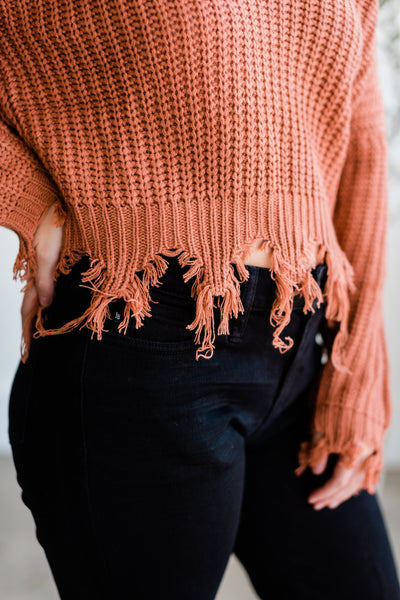 The Dixie Distressed Sweater - Essential Southern Charm