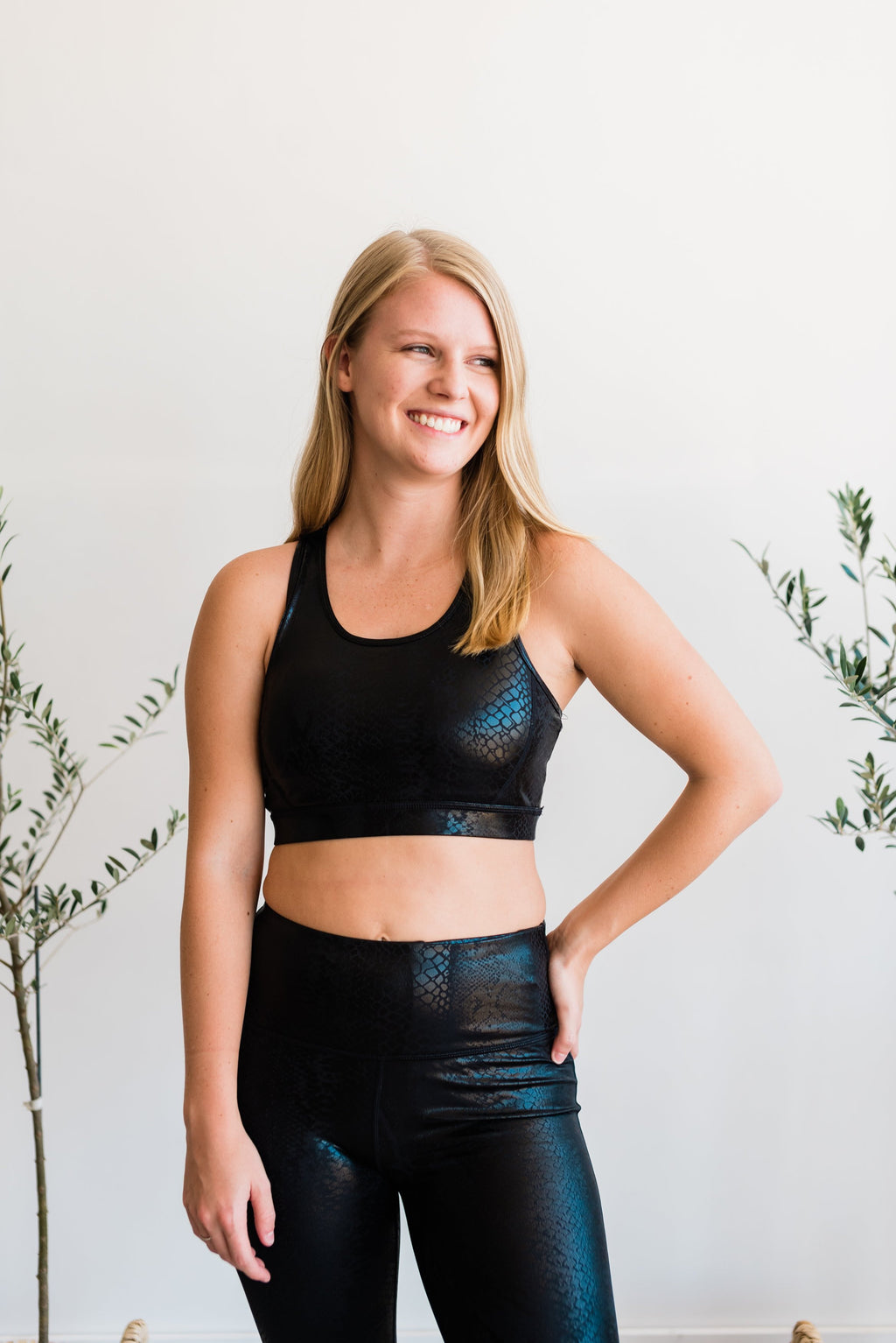 Snake Bite Foil Sports Bra PLUS SIZE - Essential Southern Charm