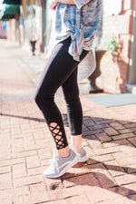Criss Cross Athletic Compression Pants