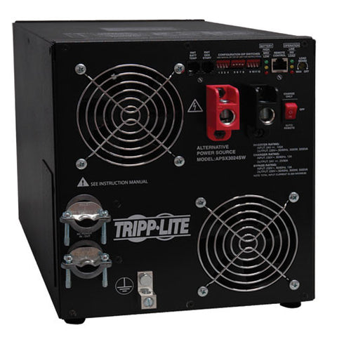 TRIPPLITE APSX3024SW 3000W PowerVerter APS 24VDC 230V Inverter/Charger with Pure Sine-Wave Output, Hardwired