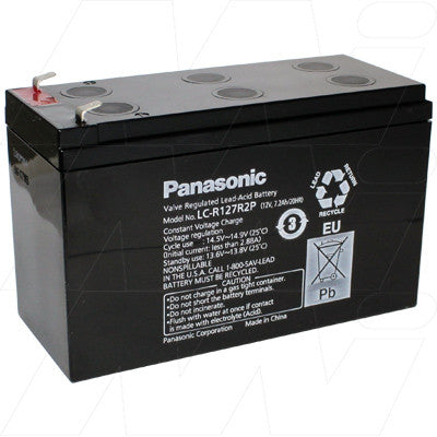 Panasonic LCR127R2P SLA Battery