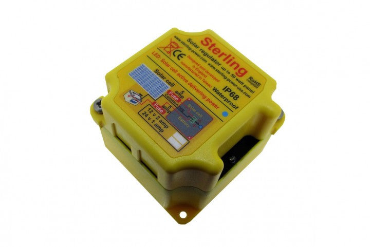 Sterling Solar Regulator, Small 2A Switching Regulator Waterproof IP66