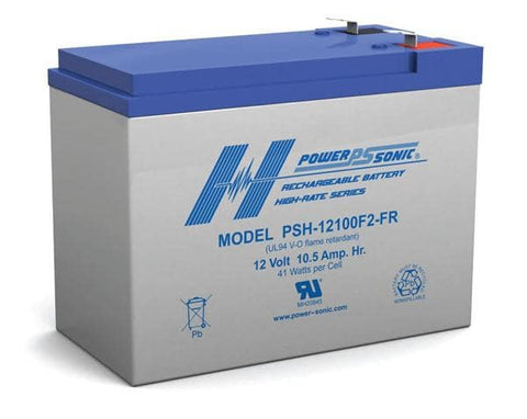 PowerSonic 12v 10.5Ah F2 UPS High Rate Battery
