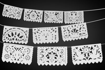 White Papel Picado 5 Pk 60 feet long ws700