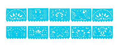 5 Pack banners, Turqouise papel piacdo, 60 ft Fiesta Decorations, WS800