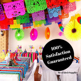 Cinco de Mayo Mexican Papel Picado Flag Banners Multi-Color 60ft WS100