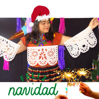 White Feliz Navidad Party Decorations WS11