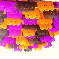 5 Pack Mexican Papel picado Banners, Day of the Dead, Dia de Muertos decorations, Fiesta decoration B832