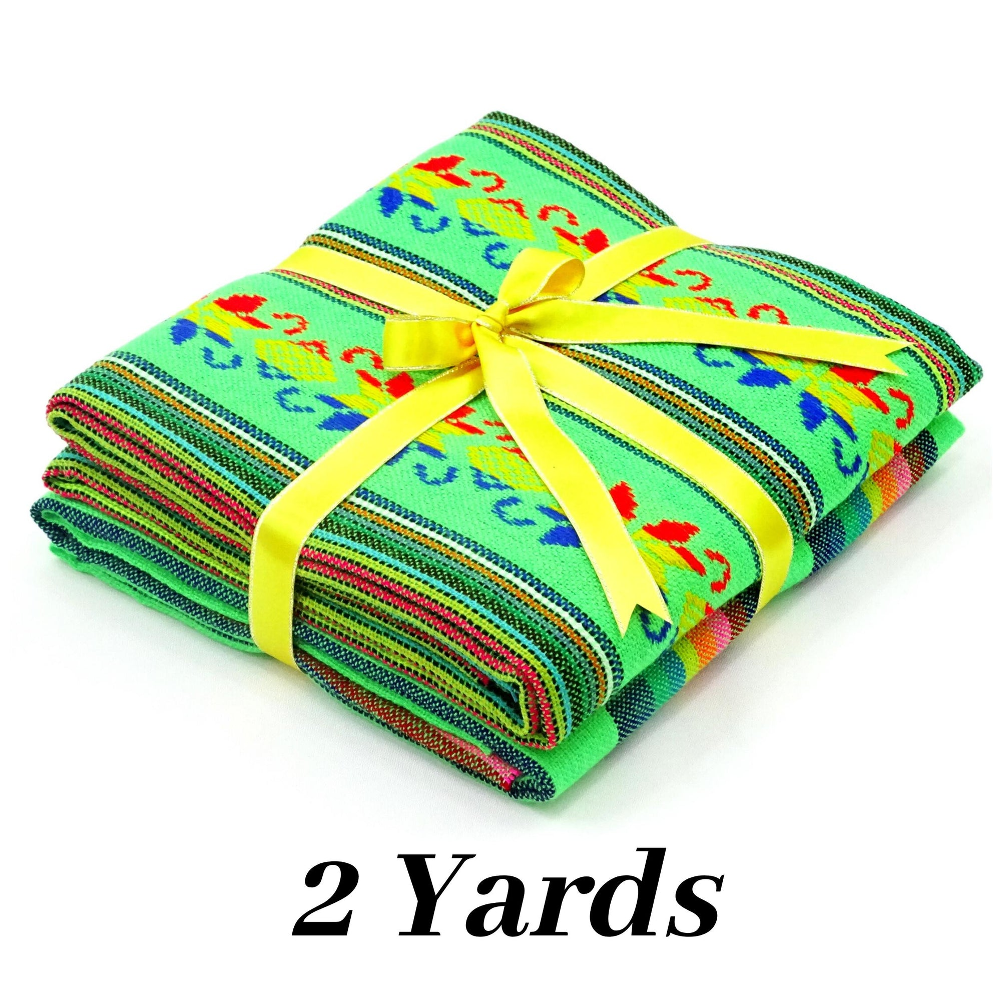 Fiesta Decoartion, Mexican fabric, 2 yards, Cinco de Mayo, Green Fabric,