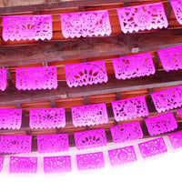5 Pk Pink Mexican banner - 60 Feet long WS600