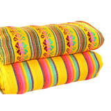 2 Yards Yellow Mexican tribal fabric